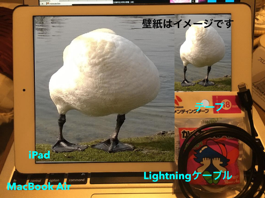 ςʔϓ Lightningέʔϒϧ MacBook Air iPad นࢴ͸ΠϝʔδͰ͢