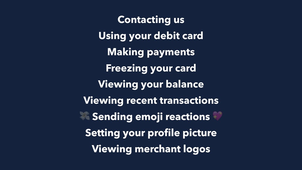 Contacting us Using your debit card Making paym...