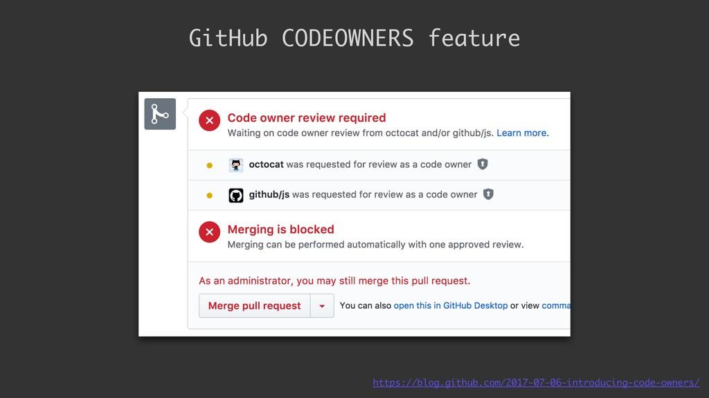GitHub CODEOWNERS feature https://blog.github.c...