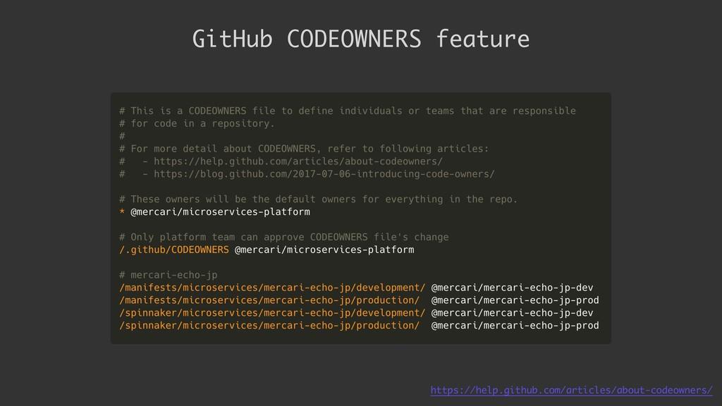 GitHub CODEOWNERS feature https://help.github.c...