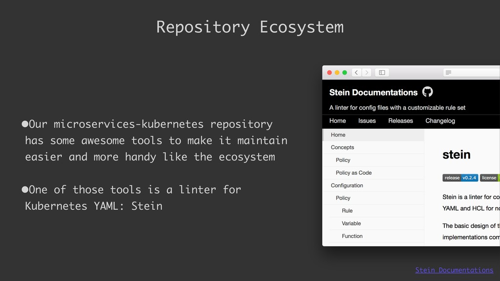 Repository Ecosystem •Our microservices-kuberne...