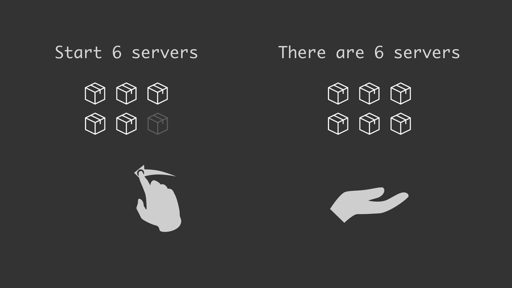 Start 6 servers There are 6 servers