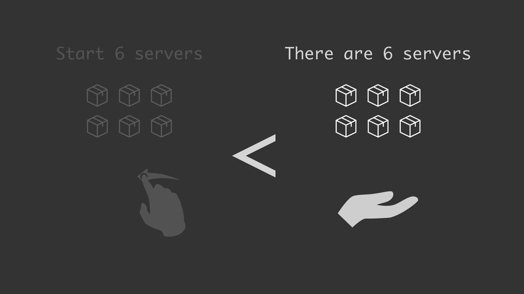 Start 6 servers There are 6 servers <