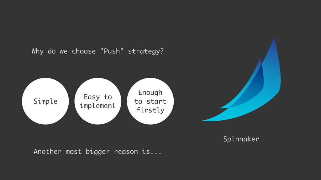 "Why do we choose ""Push"" strategy? Simple Enough..."