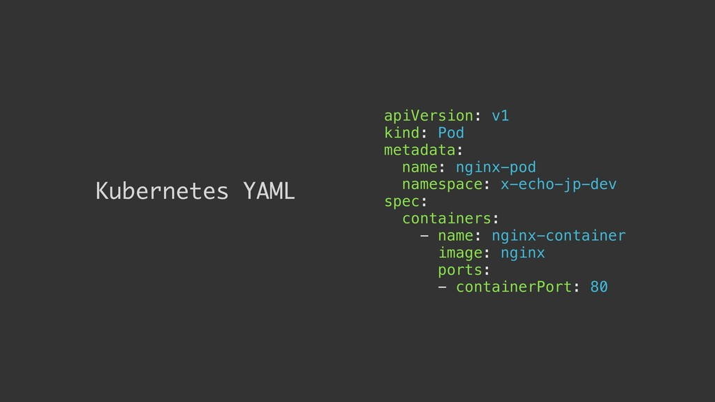 Kubernetes YAML apiVersion: v1 kind: Pod metada...