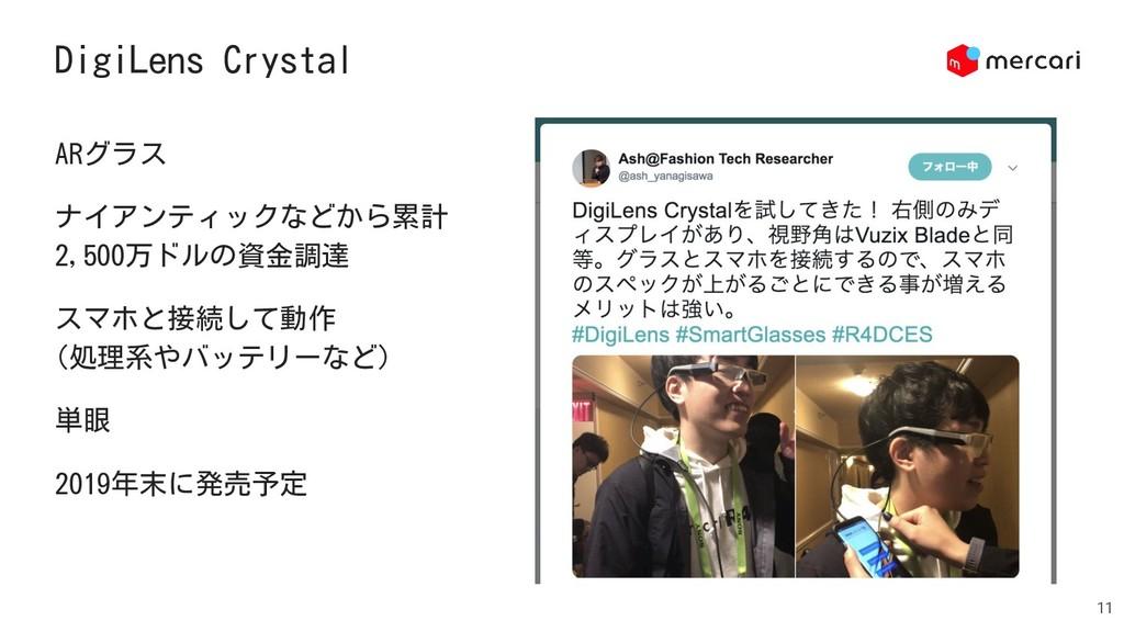 DigiLens Crystal 11 ARグラス ナイアンティックなどから累計 2,500万...