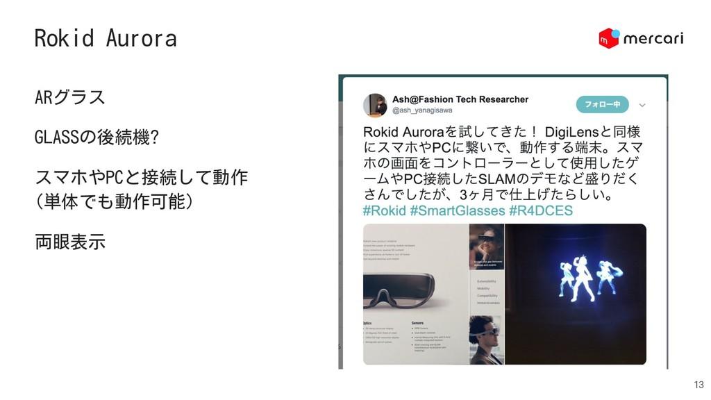 Rokid Aurora 13 ARグラス GLASSの後続機? スマホやPCと接続して動作 ...