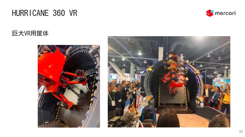 HURRICANE 360 VR 17 巨大VR用筐体