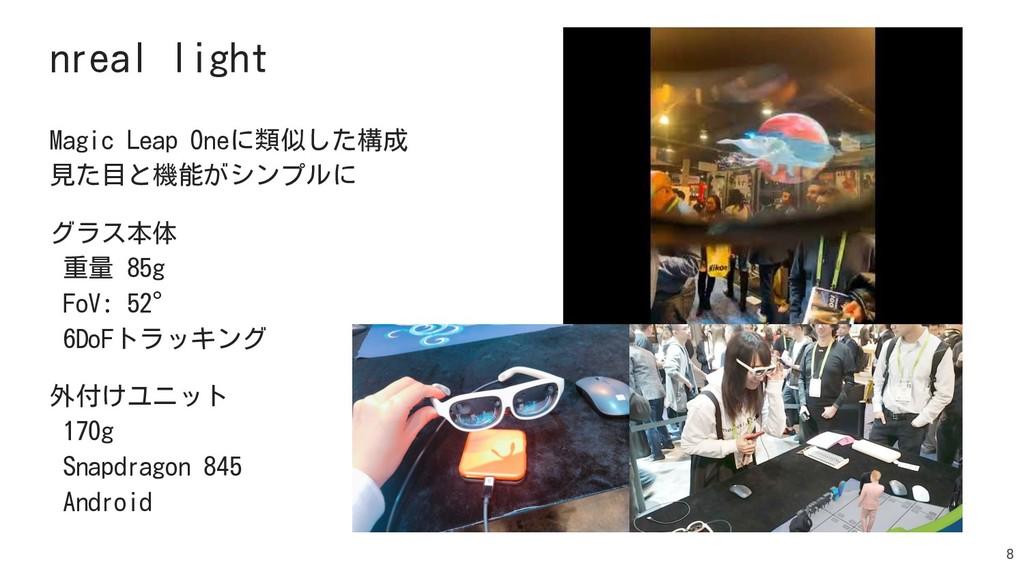 8 nreal light 8 Magic Leap Oneに類似した構成 見た目と機能がシン...