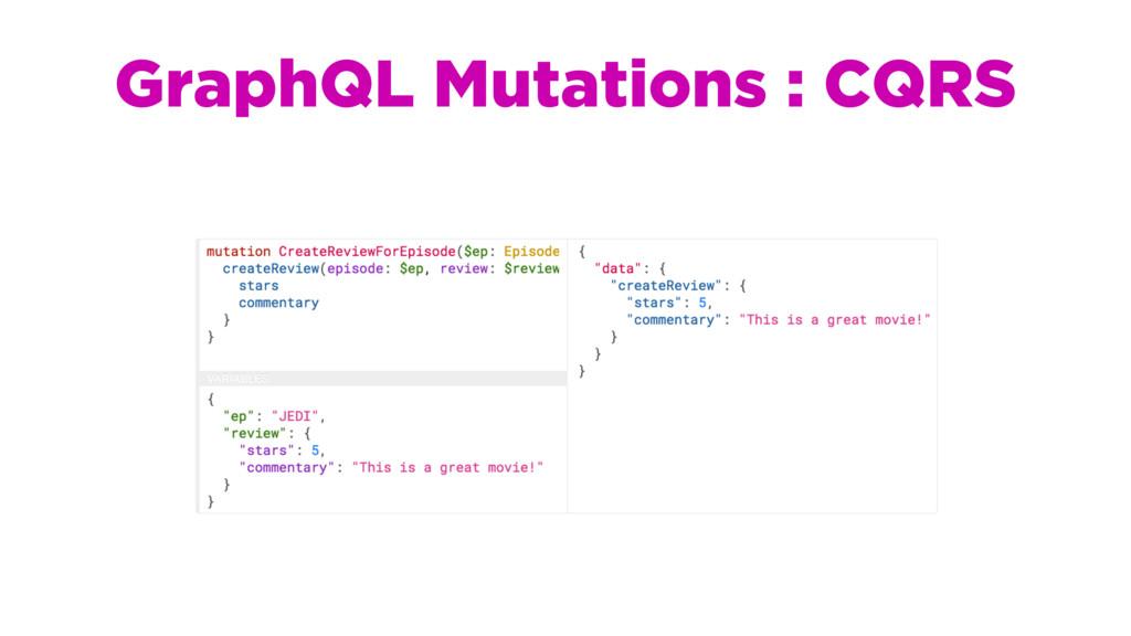 GraphQL Mutations : CQRS