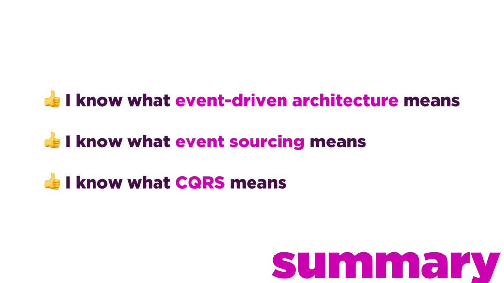 I know what event-driven architecture means  I...