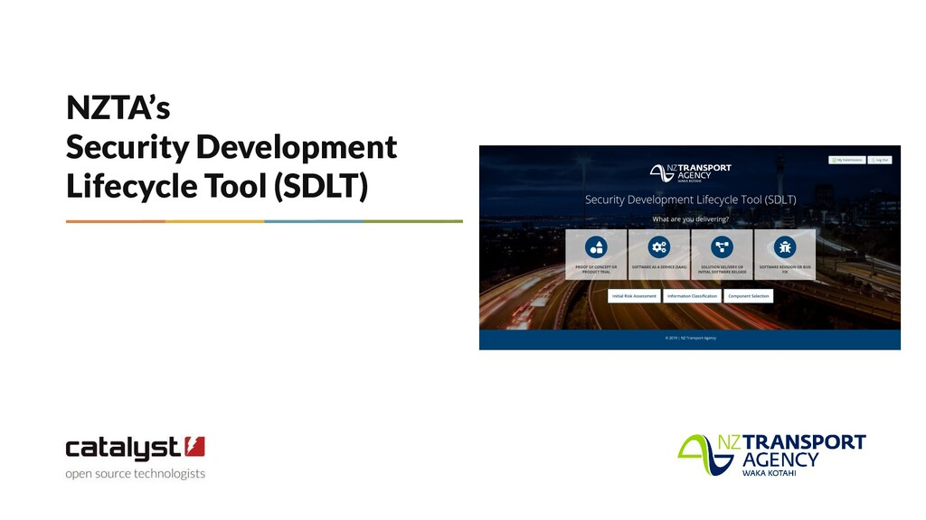 NZTA's Security Development Lifecycle Tool (SDL...