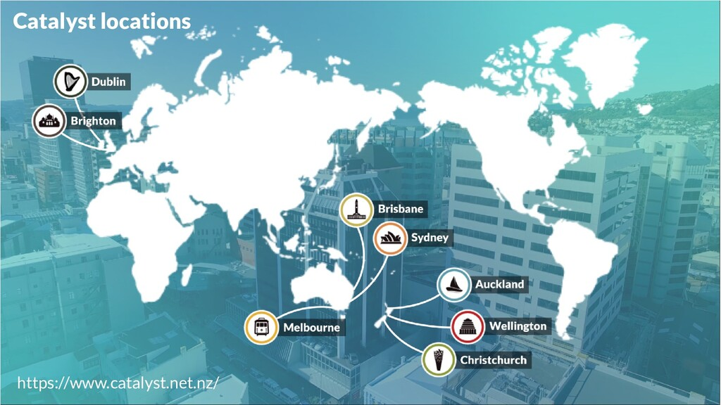 Catalyst locations https://www.catalyst.net.nz/