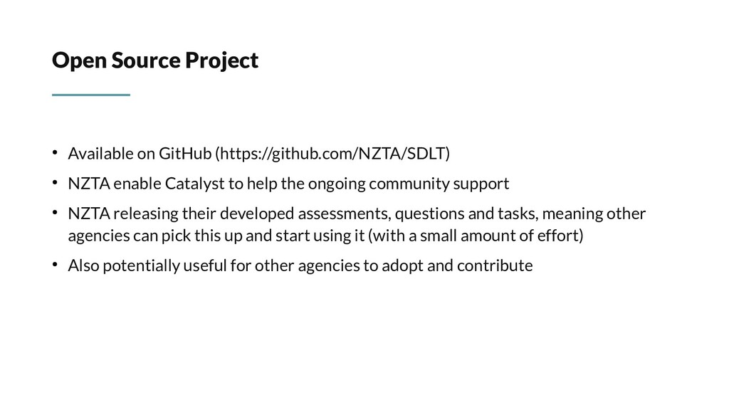 Open Source Project ● Available on GitHub (http...