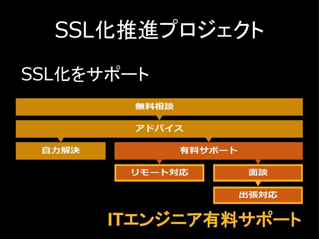 SSL化推進プロジェクト SSL化をサポート ITエンジニア有料サポート