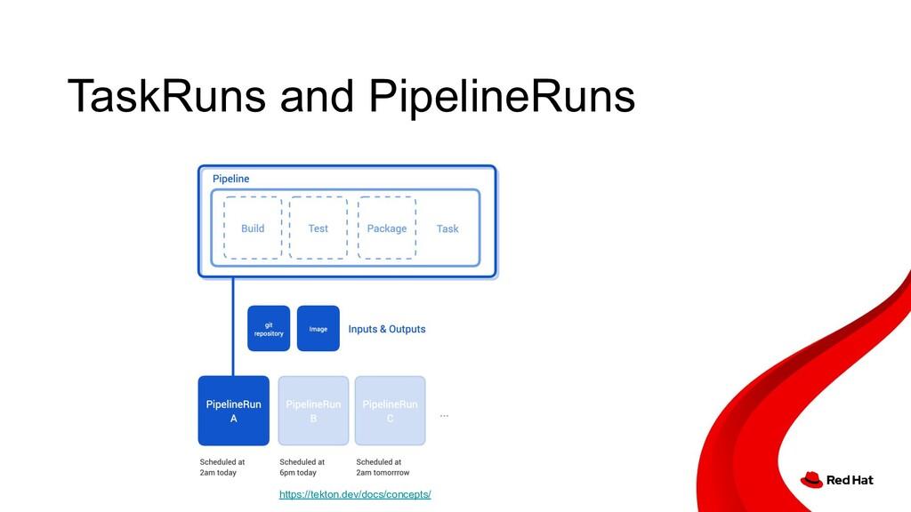TaskRuns and PipelineRuns https://tekton.dev/do...