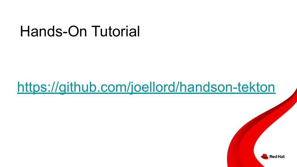 Hands-On Tutorial https://github.com/joellord/h...