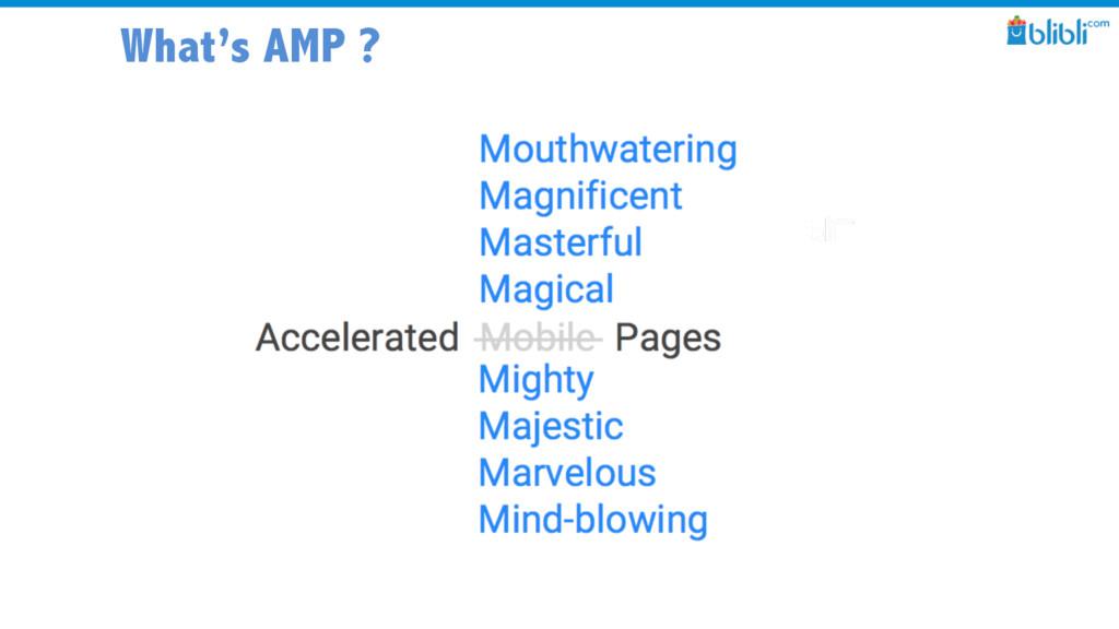 What's AMP ?