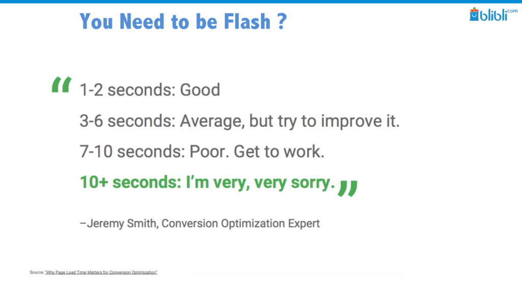 You Need to be Flash ?
