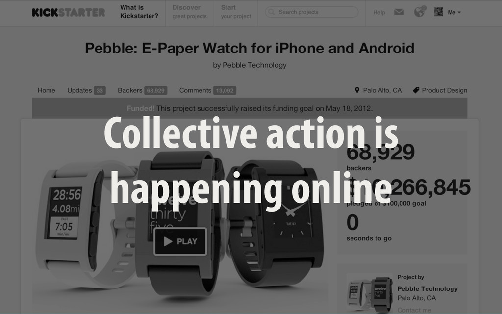 Collective action is happening online