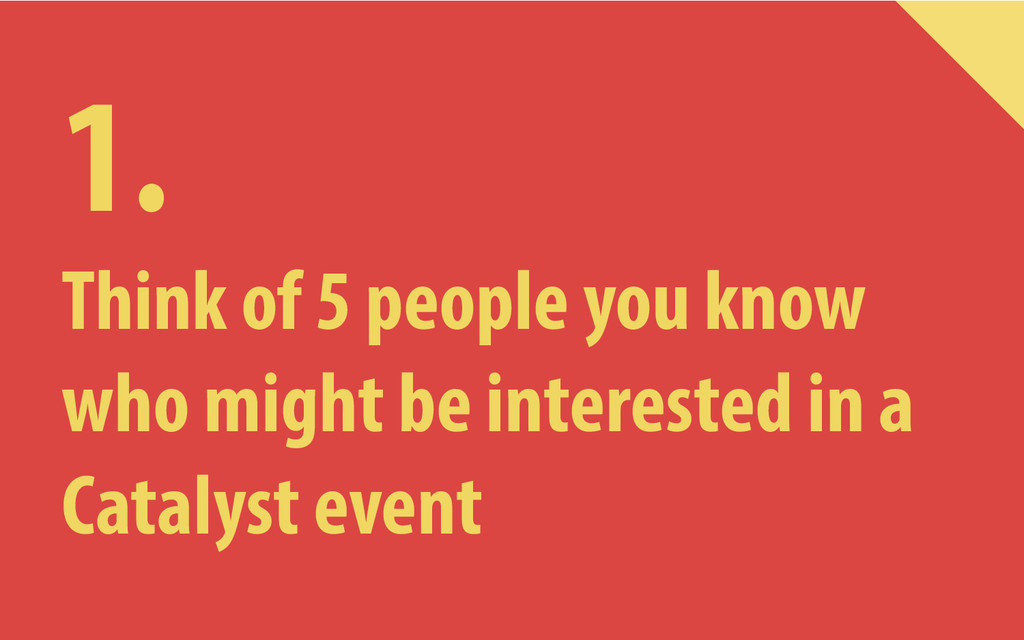 1. Think of 5 people you know who might be inte...