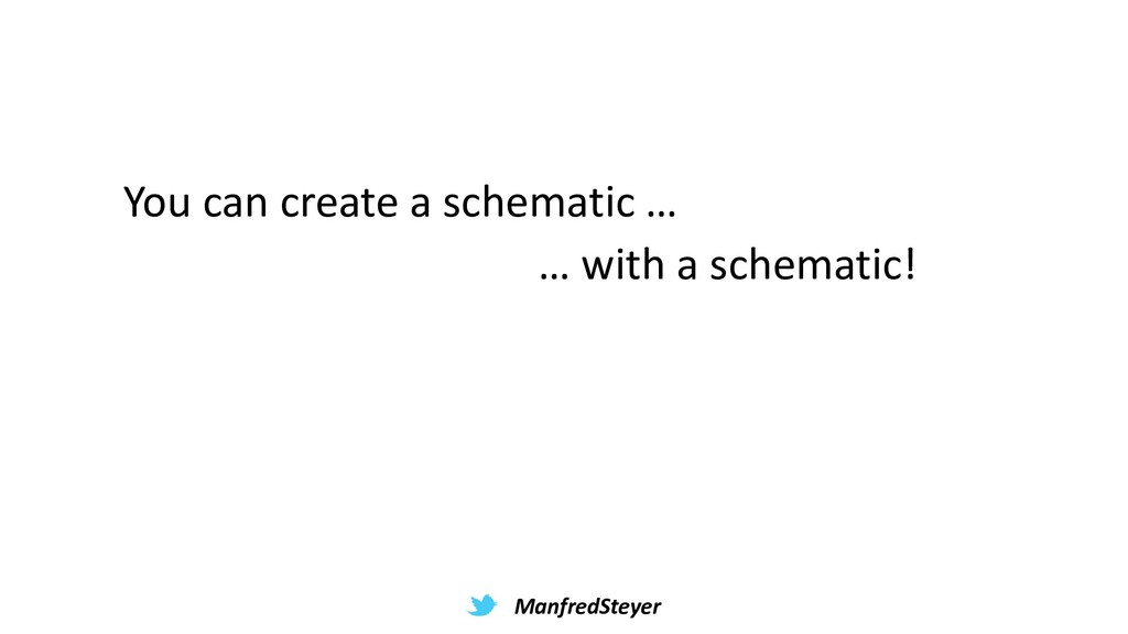 ManfredSteyer You can create a schematic … … wi...