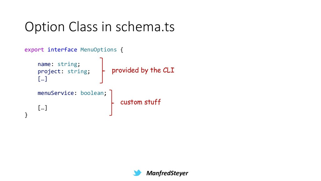 ManfredSteyer Option Class in schema.ts export ...