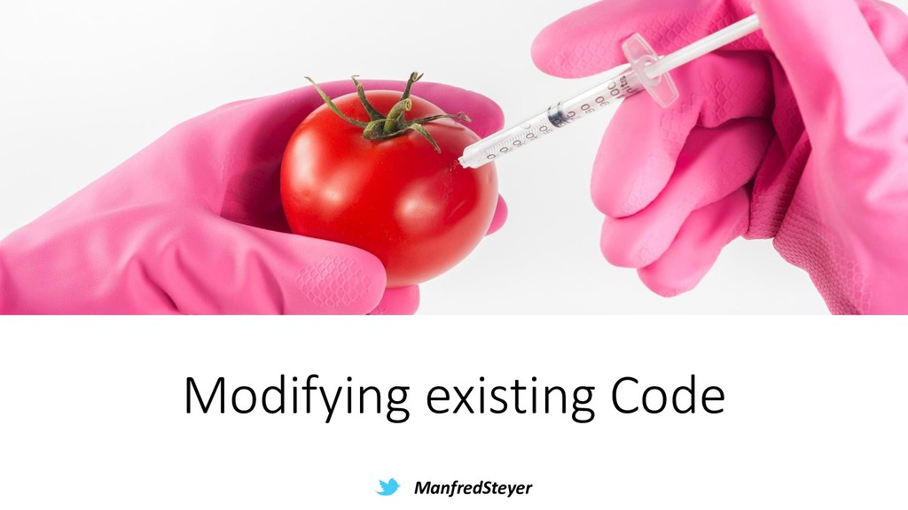 ManfredSteyer Modifying existing Code