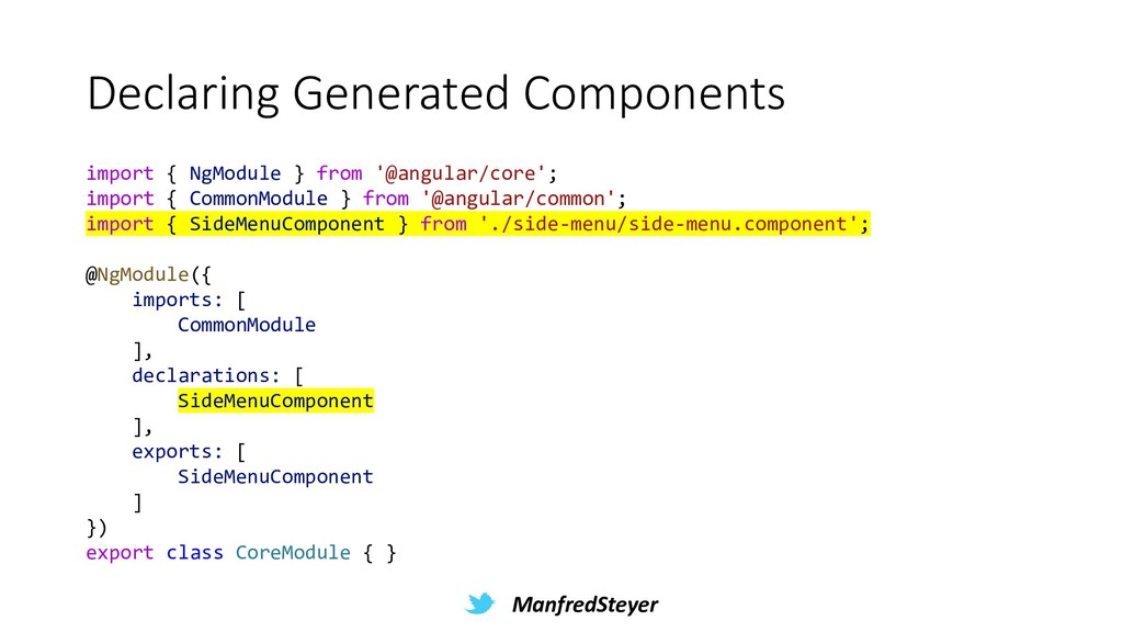 ManfredSteyer Declaring Generated Components im...