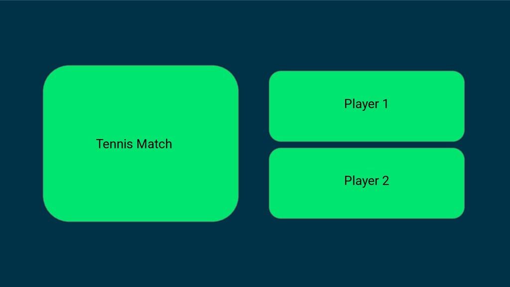 Tennis Match Player 1 Player 2