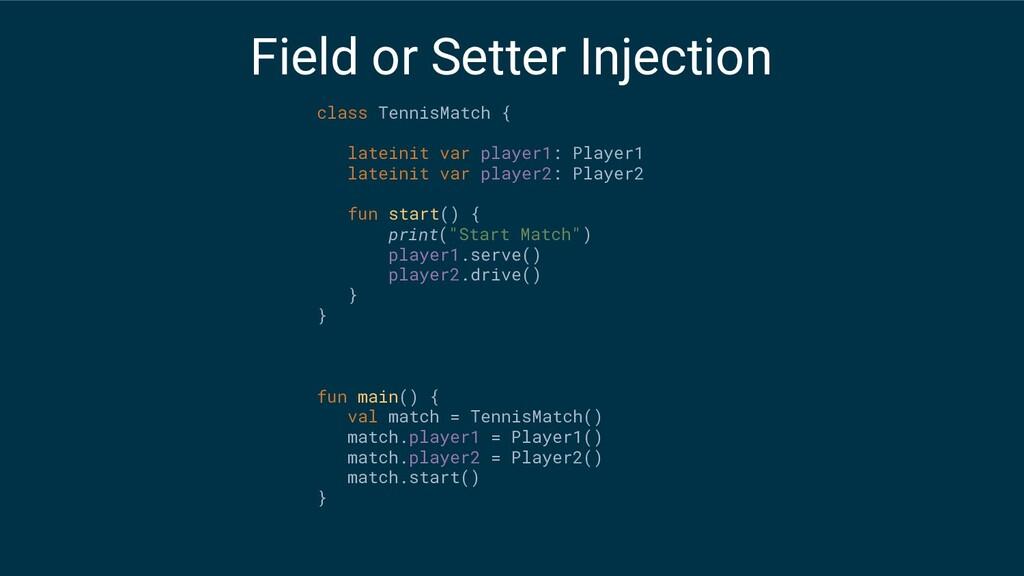 class TennisMatch { lateinit var player1: Playe...