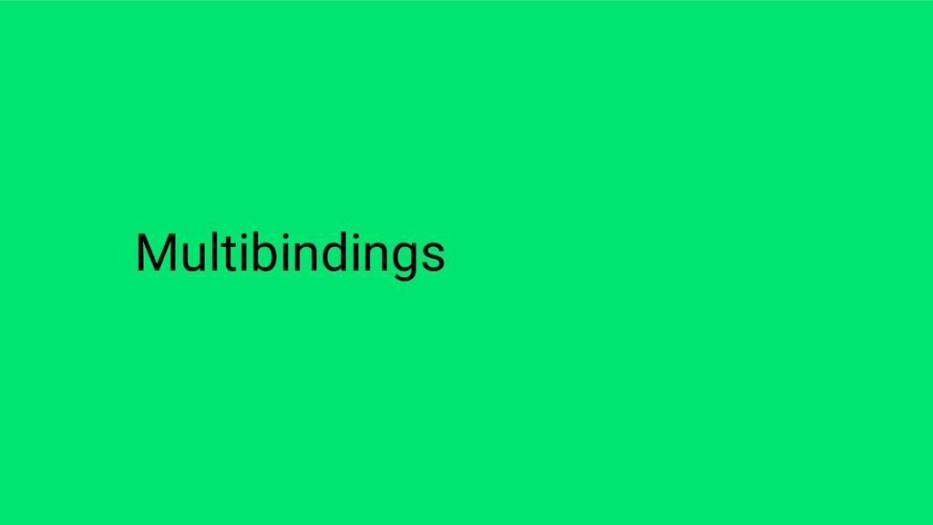 Multibindings