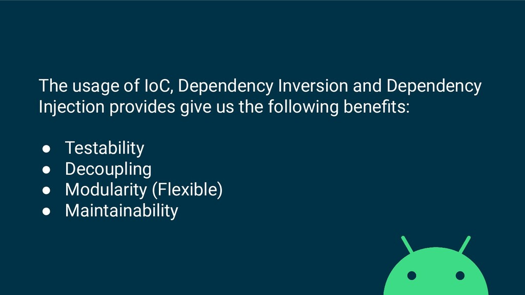 The usage of IoC, Dependency Inversion and Depe...