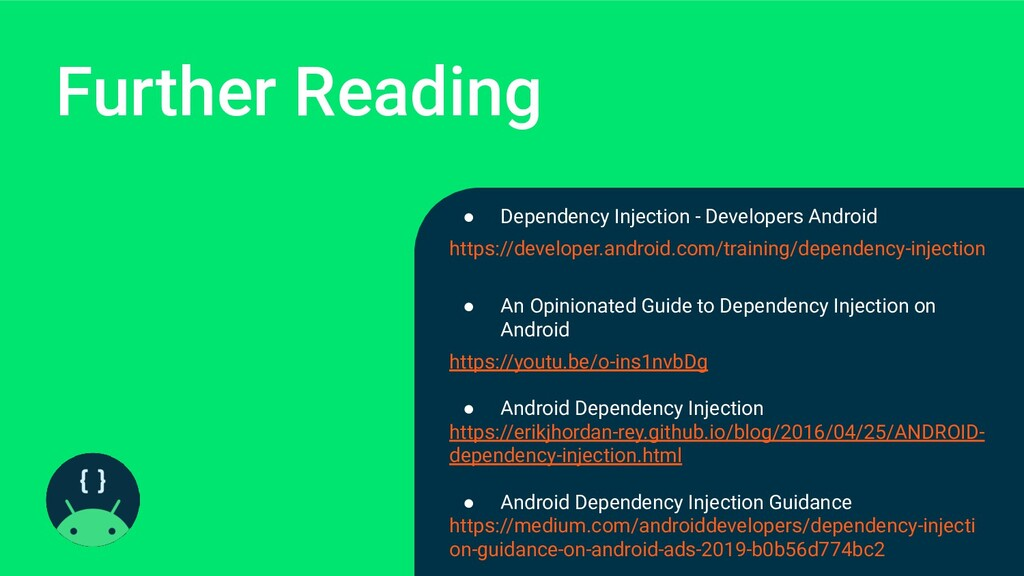 Further Reading ● Dependency Injection - Develo...
