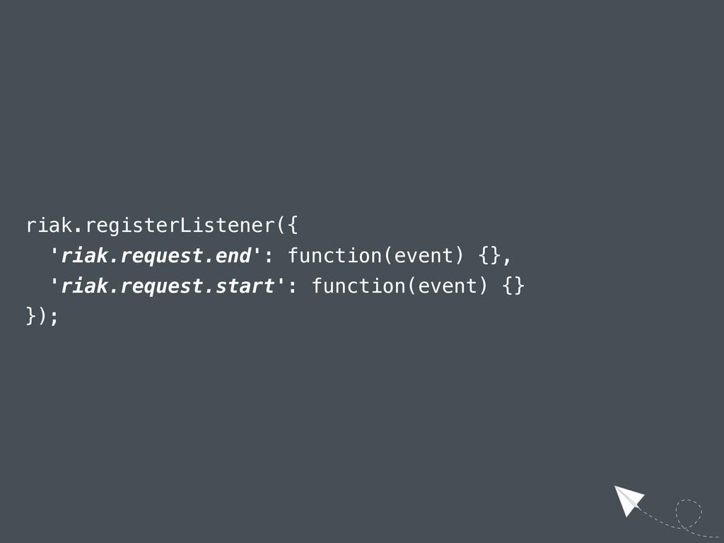 riak.registerListener({ 'riak.request.end': fun...