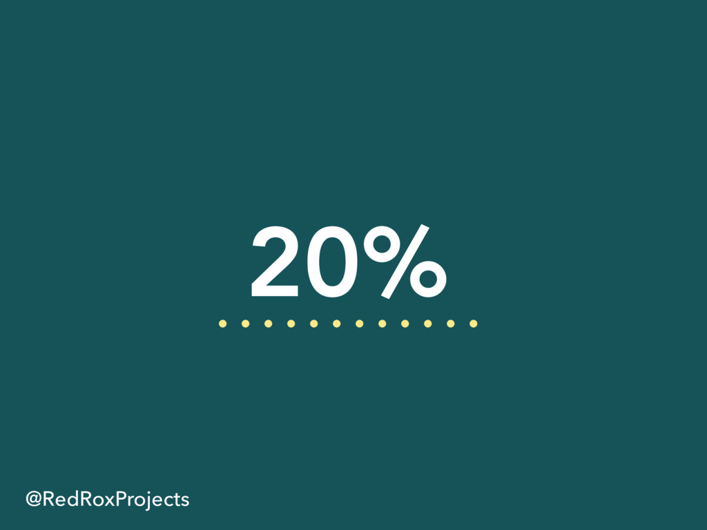 20% @RedRoxProjects