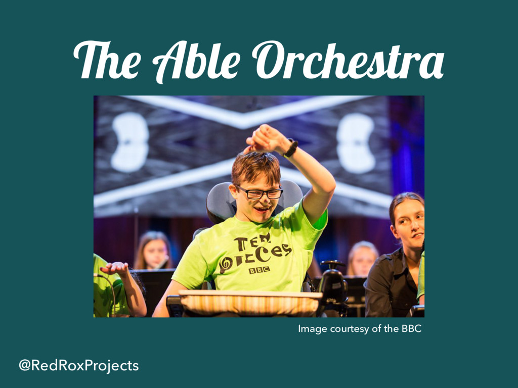 The Able Orchestra @RedRoxProjects Image courte...