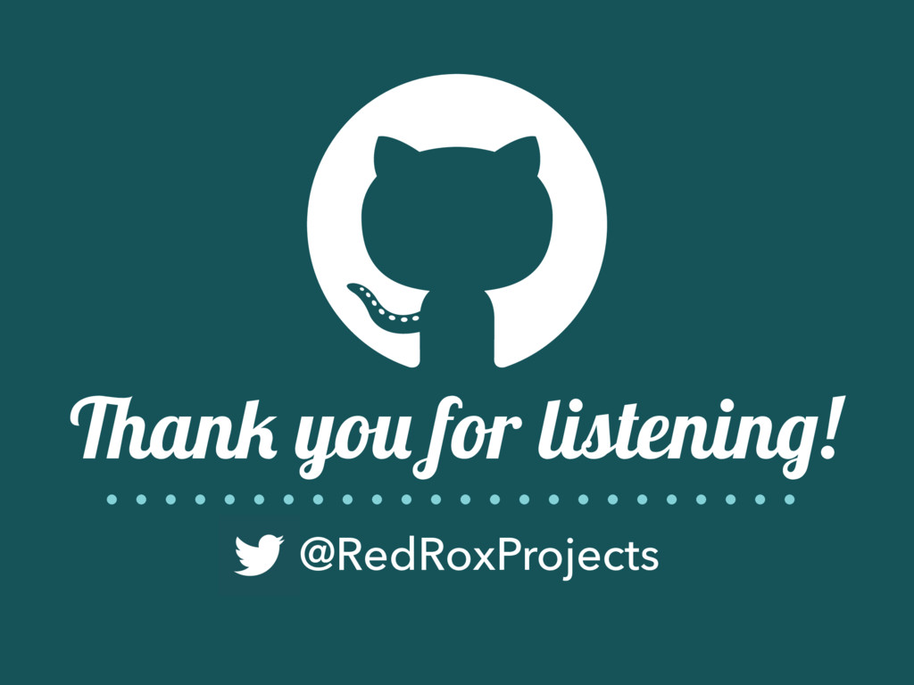 Thank you for listening! @RedRoxProjects