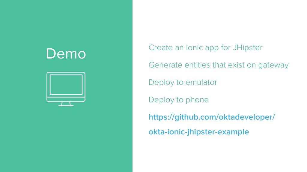 Demo Create an Ionic app for JHipster Generate ...