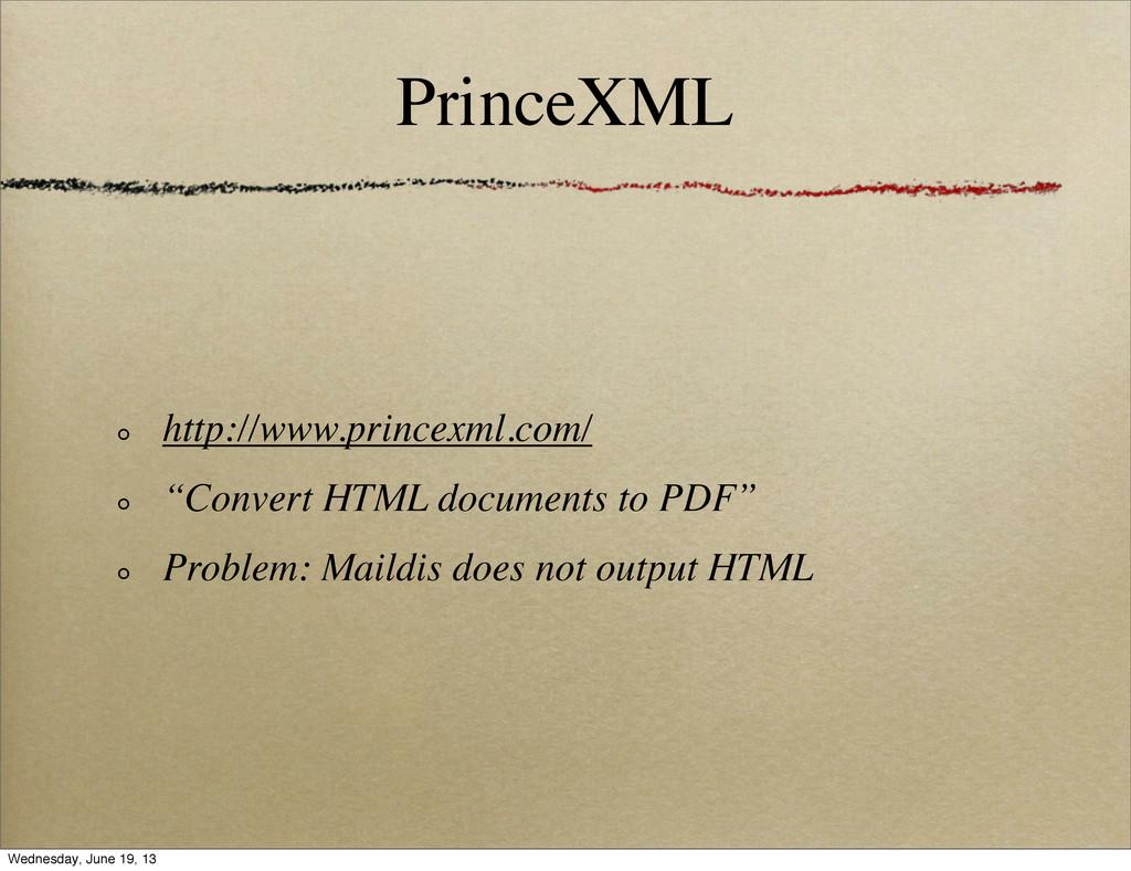 "PrinceXML http://www.princexml.com/ ""Convert HT..."