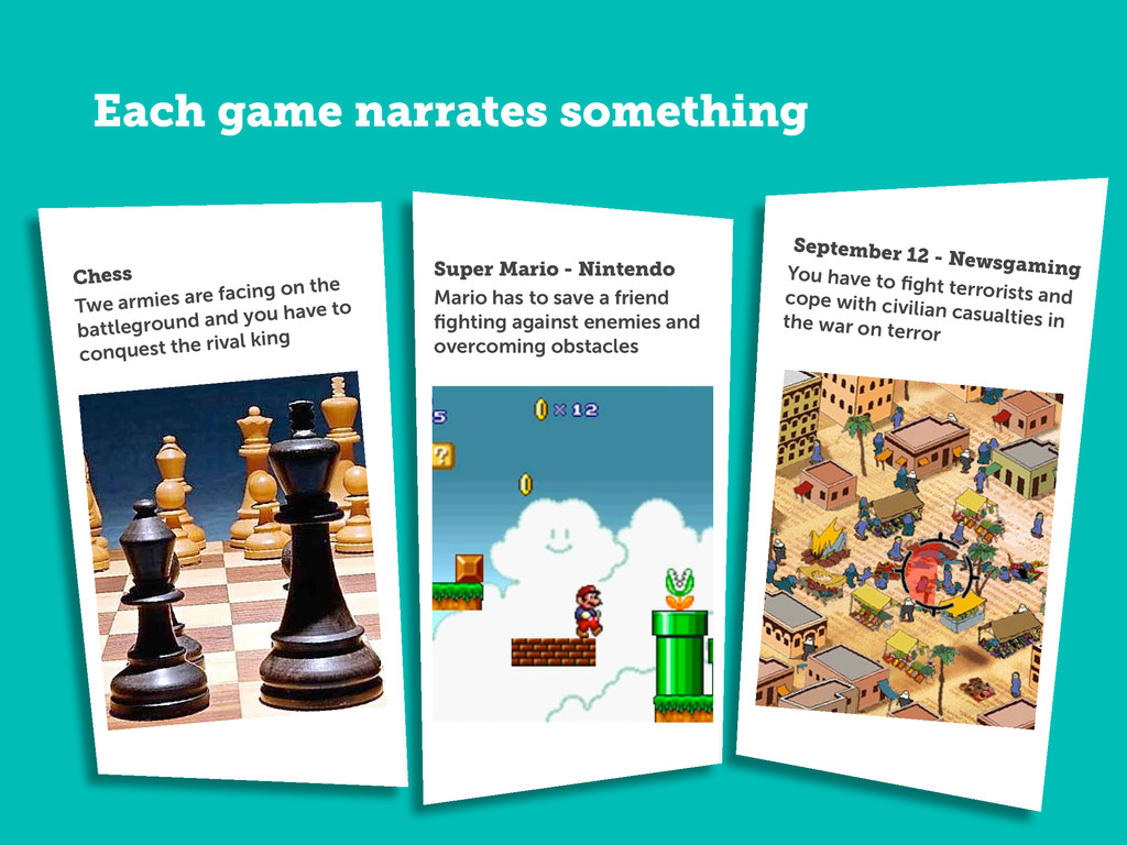 Each game narrates something Chess Twe armies a...