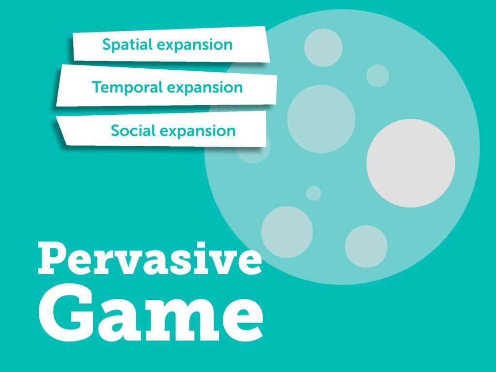 Spatial expansion Temporal expansion Social exp...