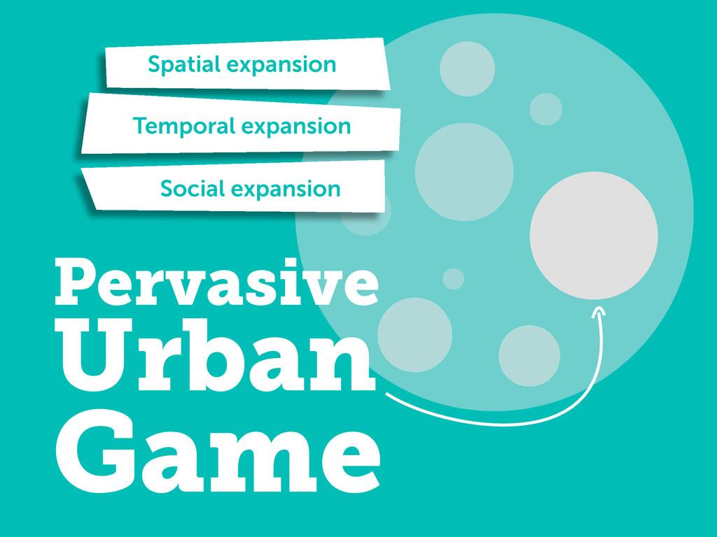 Pervasive Urban Game Spatial expansion Temporal...