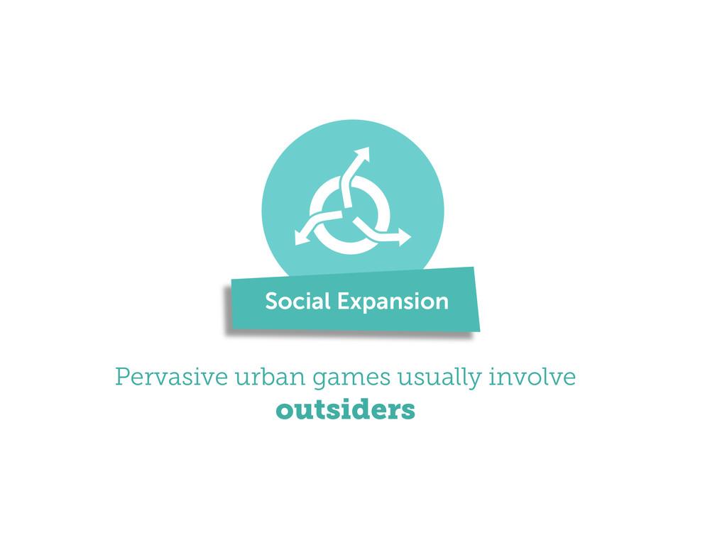! Pervasive urban games usually involve outside...