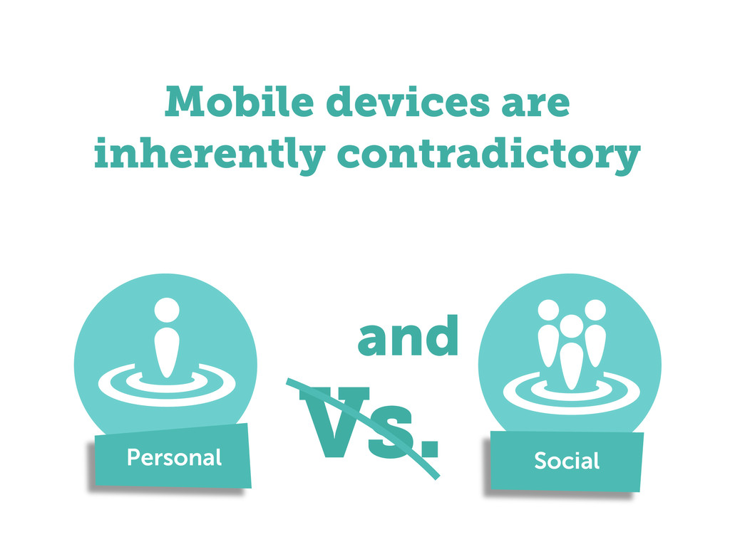 Mobile devices are inherently contradictory Per...