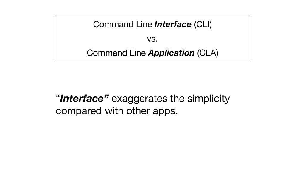 Command Line Interface (CLI)   vs.  Command Lin...