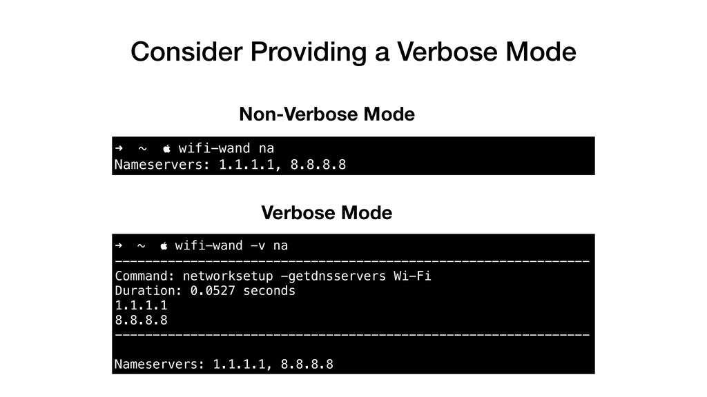 Consider Providing a Verbose Mode ➜ ~  wifi-wa...