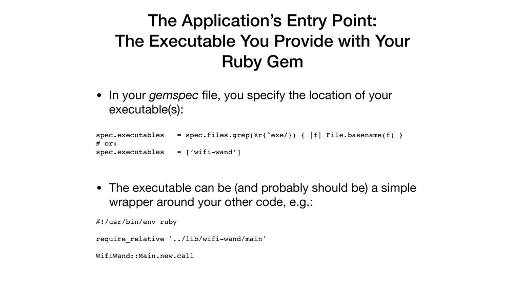 The Application's Entry Point: The Executable Y...