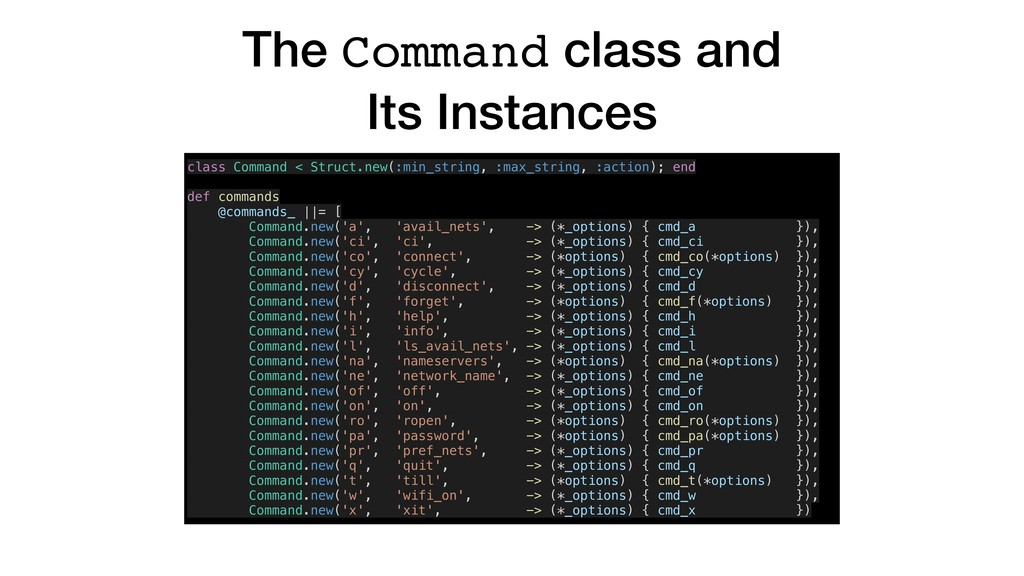 The Command class and Its Instances class Comma...