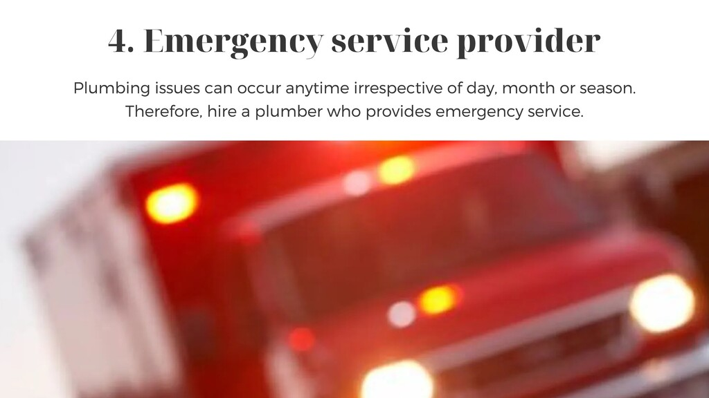 4. Emergency service provider Plumbing issues c...
